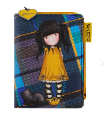 Gorjuss Tartan Wallet - Ruby Yellow 8078