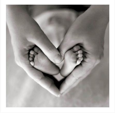 Greetings Card - New Baby Hands and Feet 10235