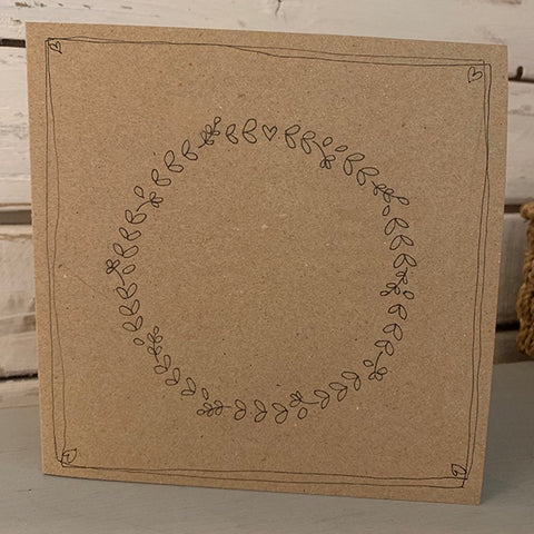 Personalised Card with Round Wreath 9916
