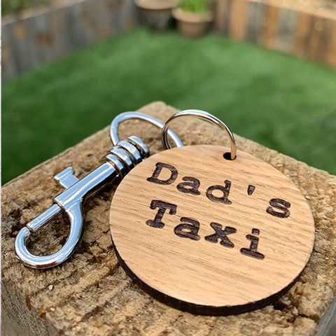 Keyring Round - Dad's Taxi 9989