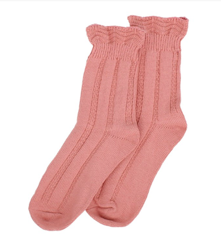 Forever England Ankle Sock - Ruffle Top Pink 8315