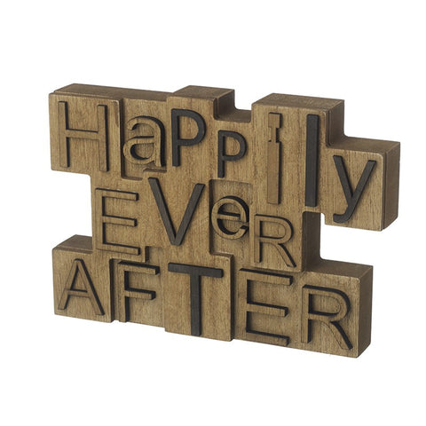 Happily Ever After Wooden Block 10138