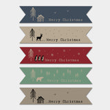 Christmas Label Sticker Sheet -Kraft Christmas Ribbons 9301