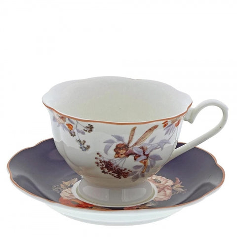 Flower Fairies Elderberry Cup and Saucer 7561