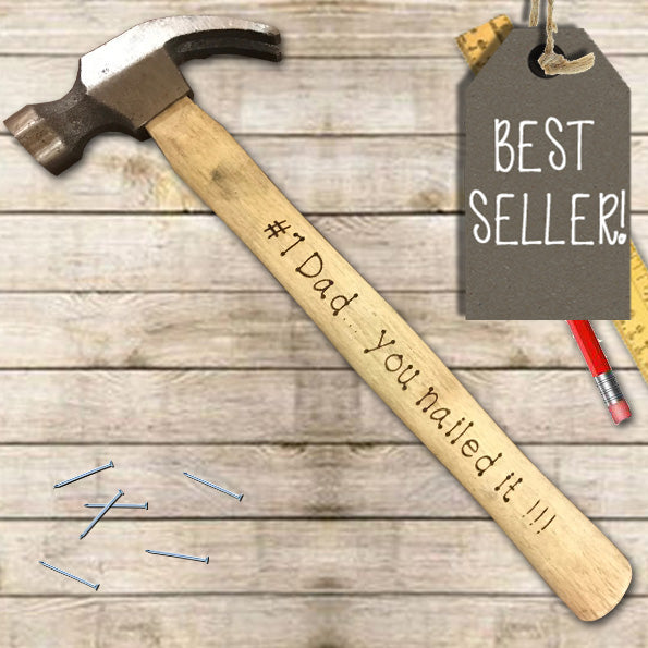 Personalized gift for him Daddys present Mans Cave Dad/'s Hammer Message Engraved on the Hammer
