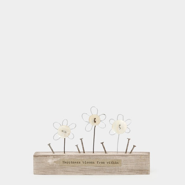 Wooden Scene - Sm Flowers/Happiness Blooms 9620