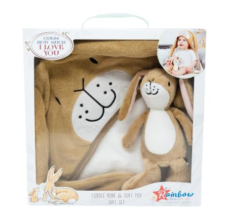 Guess How Much I Love You Soft Toy with Cuddle Robe Gift Set 10663