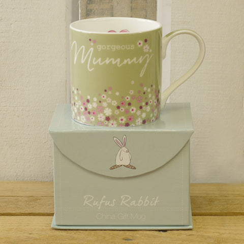 Rufus Rabbit China Mug - Gorgeous Mummy 1950