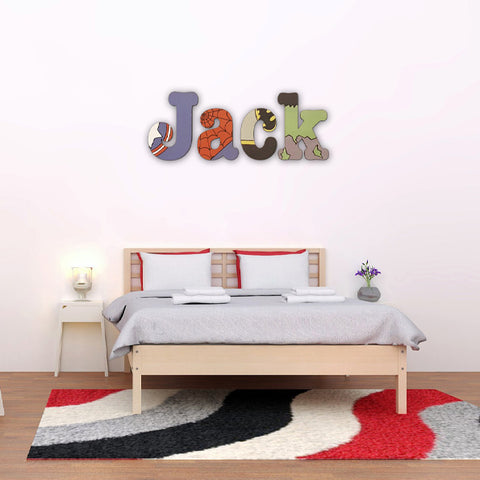 Personalised Wall Letters - Superhero 8568