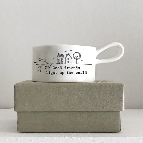 Handled Tea Light Holder - Good Friend 10634