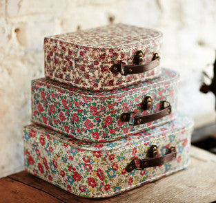 English Garden set of 3 Suitcases 337