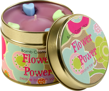 Piped Candle - Flower Powder 4327