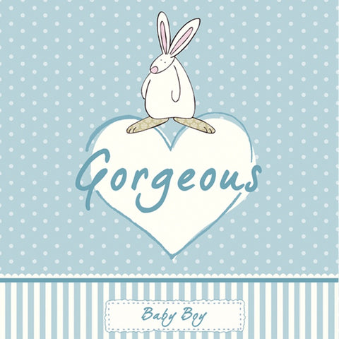 Rufus Rabbit Gorgeous Baby Boy Card 4380