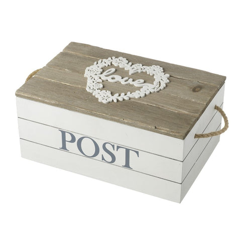 Wooden Love Post Box 8878