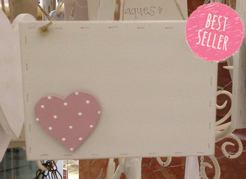Personalised Sq Plaque with Heart 217