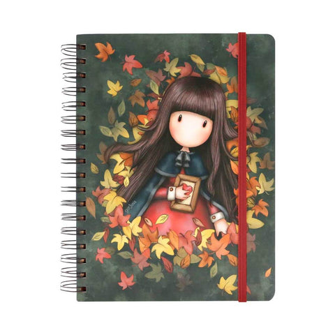 Gorjuss Autumn Leaves - Large Wiro-Bound Journal 10485