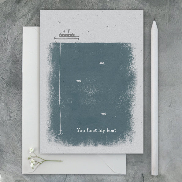 Colour Block Card - You Float My Boat 9609
