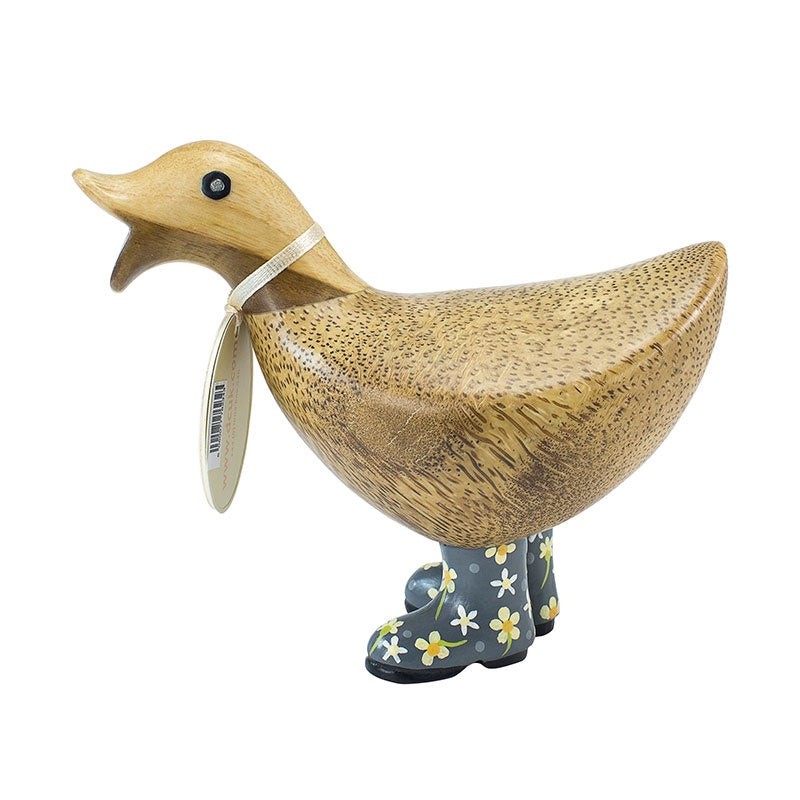 DCUK Ducky with Flower Welly - Grey 9800