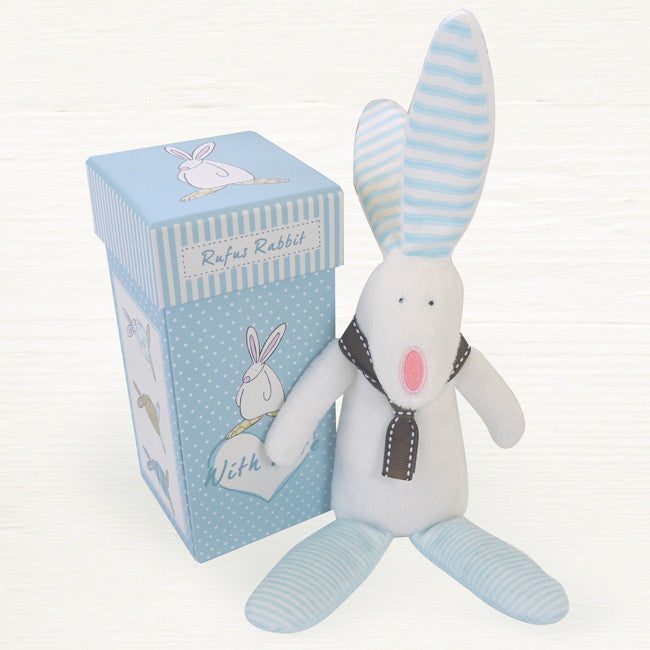 Rufus Rabbit Boys Rattle & Box 2817