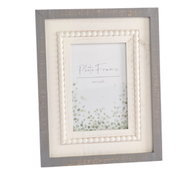 Grey Beaded Photo Frame 10053
