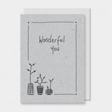 Greetings Card Ink Flower - Wonderful You 8802