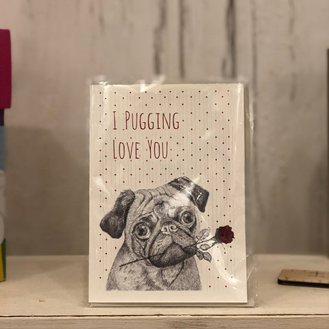 Card - Pugging Love You 4577