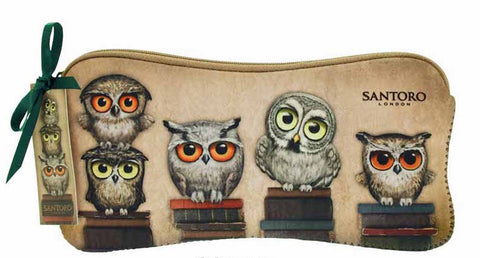 Book Owls Neoprene Accessory Case 5479