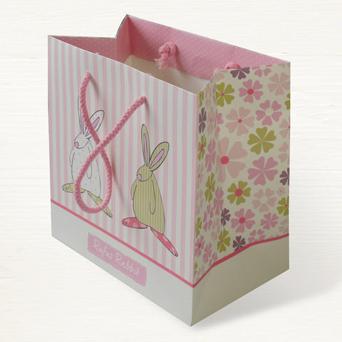 Rufus Rabbit Girl Md Gift Bag 2830