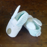 Rufus Rabbit Baby Slippers - Blue 2841
