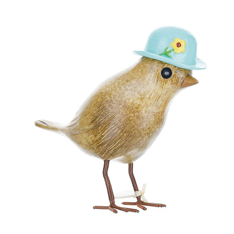 DCUK Garden Bird with Floral Hat - Blue 9802