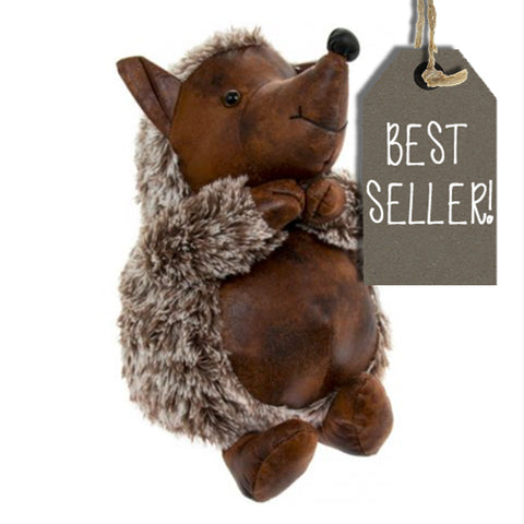 Hedgehog Doorstop Faux Leather 9487