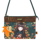 Gorjuss Autumn Leaves - Double Pouch Cross Body Bag 9662