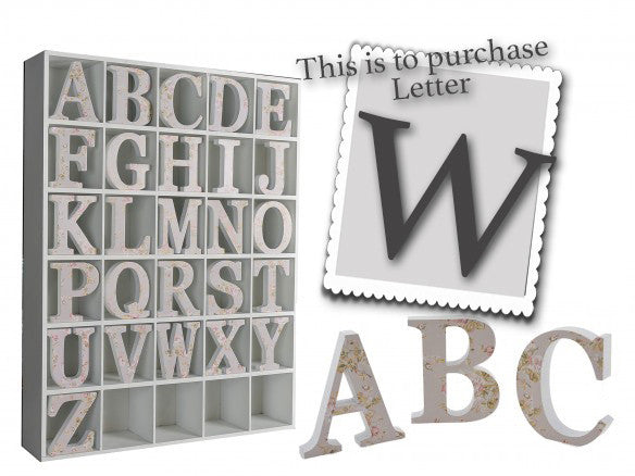 Wooden Grey Letter W 3495