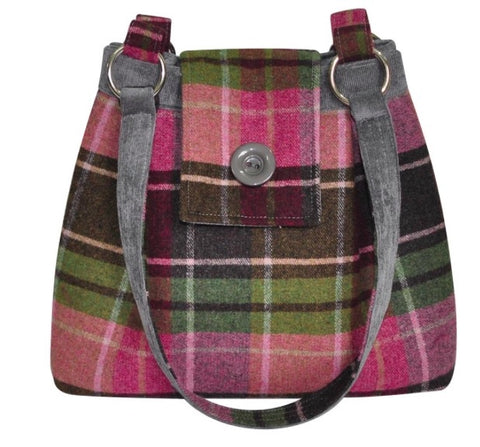Earth Squared Tweed Ava Bag - Raspberry 6410