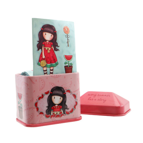 Gorjuss Trinket Tin with Sticker Roll - Every Summer has a Story 7598
