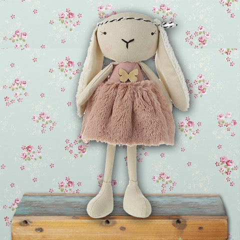 Lop Ear Rabbit in Pink Dress 8887