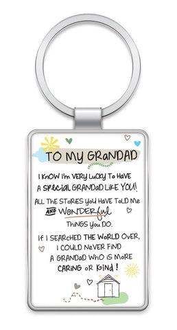 Inspired Words Keyring - To My Grandad 6441