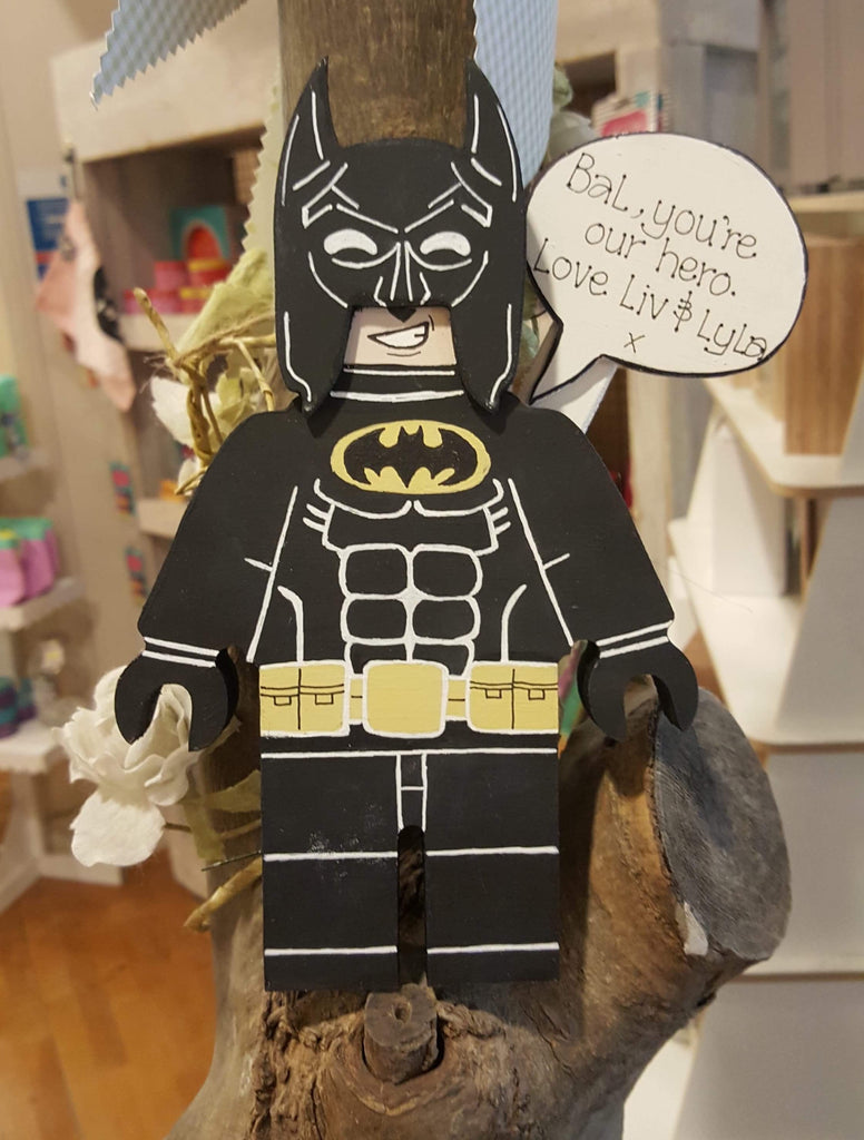 Personalised Superhero Legoman - Batman 8987