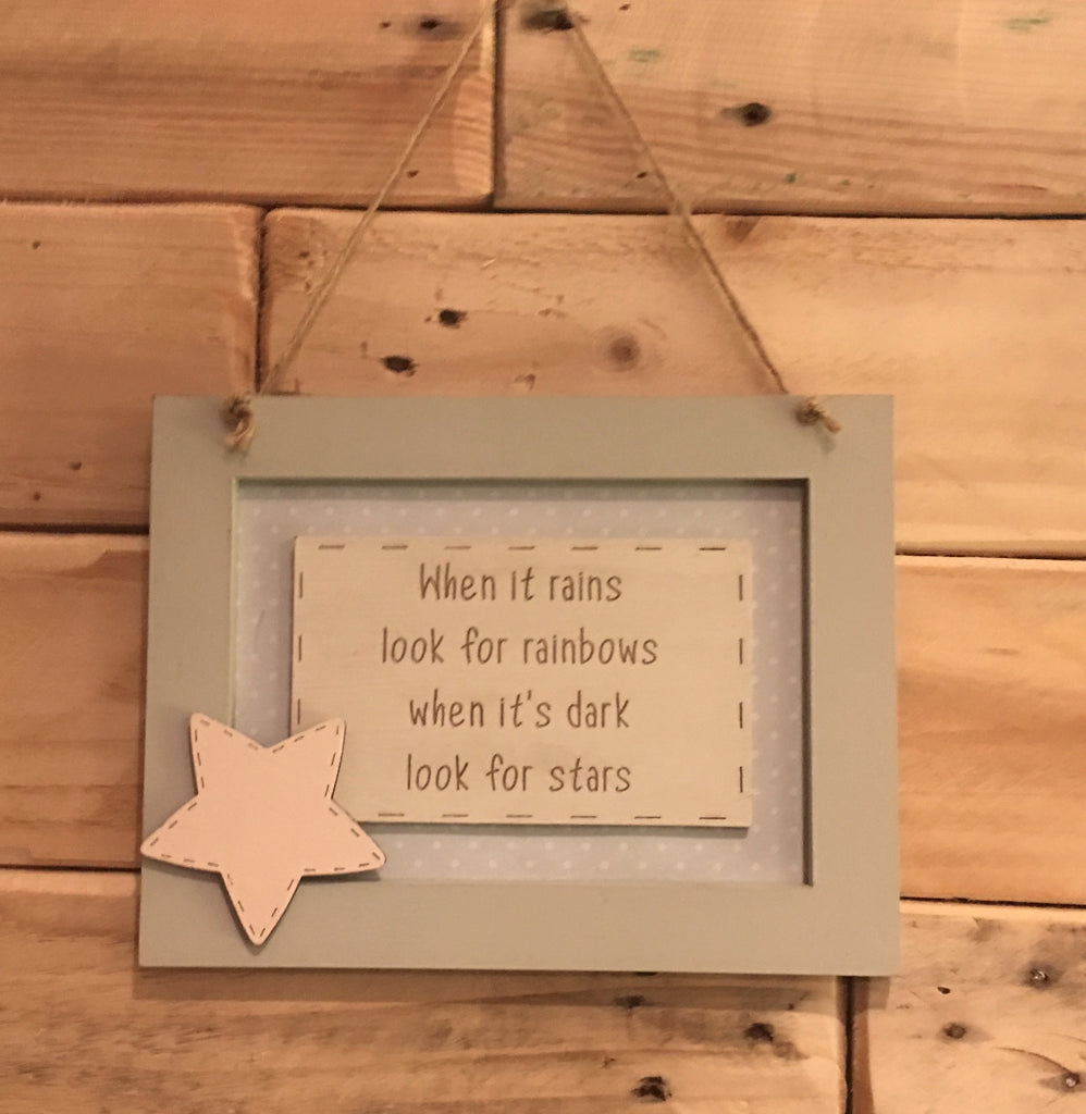 Personalised Wooden Frame Sign - When it Rains 8702