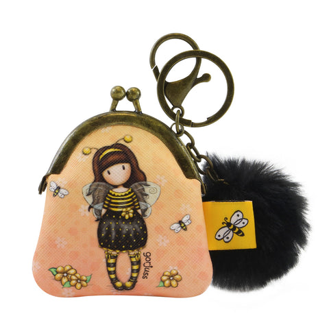 Gorjuss Keyring Clasp Purse - Bee-Loved 8500