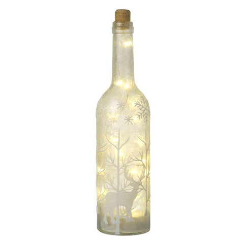 Glass Light Up Bottle 6802