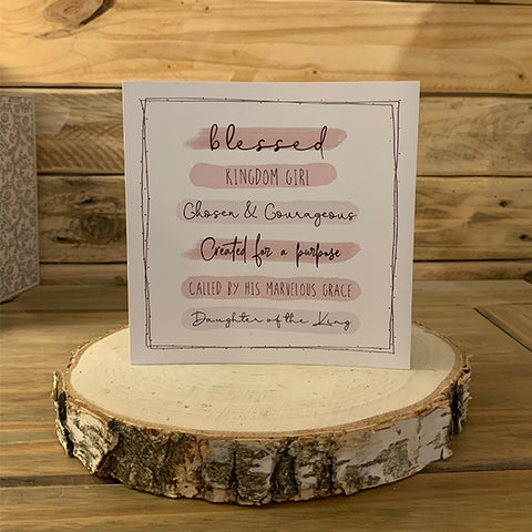 Highlights Card - Scripture Wording Pink 11025