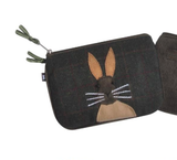 Earth Squared Animal Applique Juliet Purse - Hare in Brown 9376