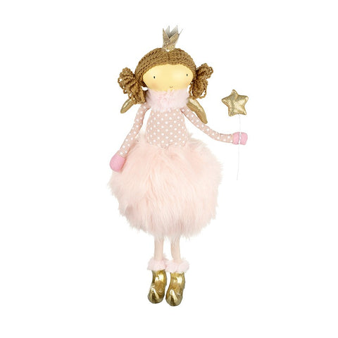 Standing Angel in Fluffy Pink Skirt 7072