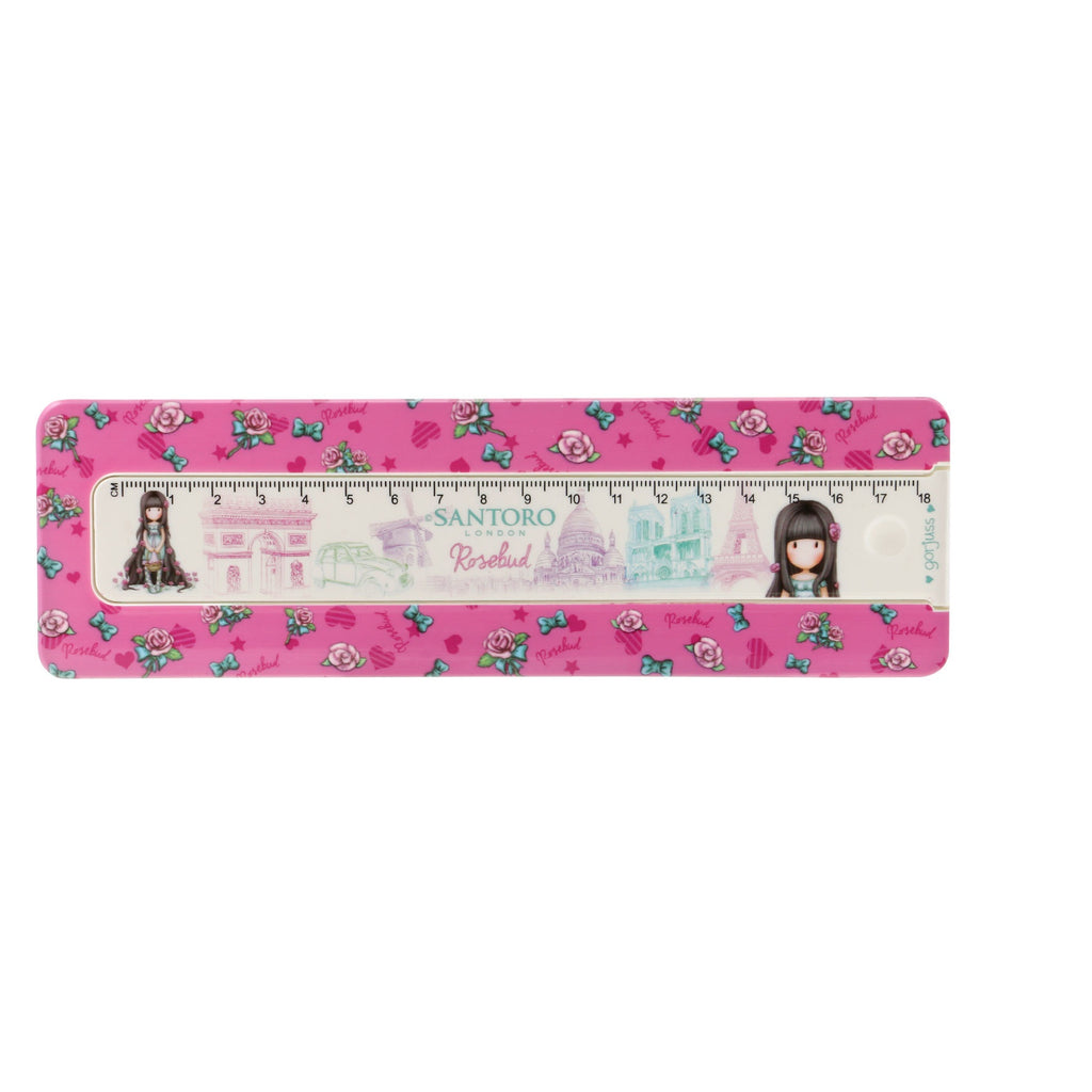 Gorjuss Cityscape Pencil Box with Ruler - Rosebud 7604