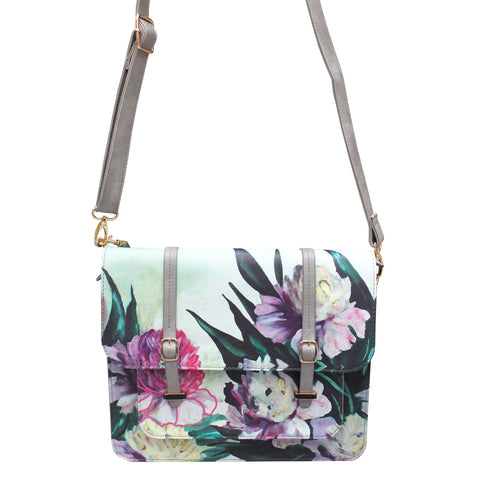 Disaster Framed Grey Satchel 8072