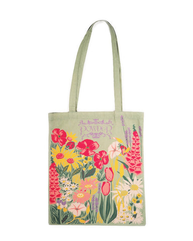 Tote Bag - Country Garden in Mint 11119