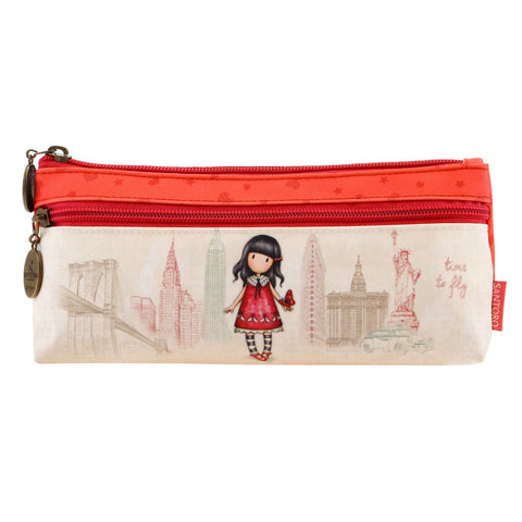 Gorjuss Cityscape Zipped Pocket Pencil Case - Time to Fly 7587