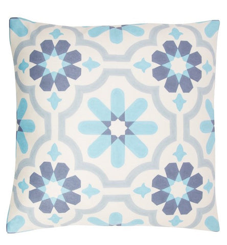 Mediterranean Mosaic Cushion - White 5820