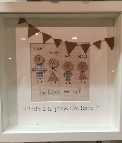 Button People Family Frame Md - Design 1-Bunting 5603